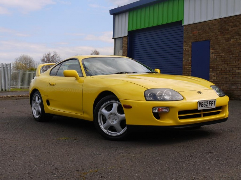 1999 toyota supra rz vvti 6 speed manual  u2013 factory rare yellow